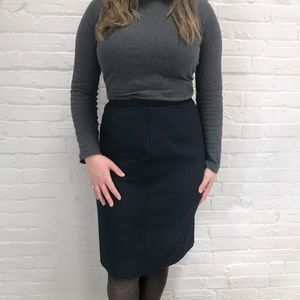 Dresses & Skirts - Knee Length Navy Skirt